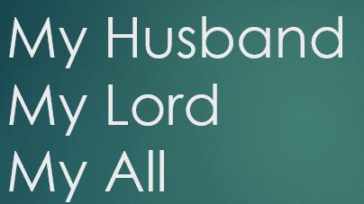 GOD, WHERE IS MY HUSBAND?